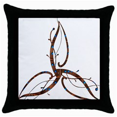 Abstract Shape Stylized Designed Throw Pillow Case (black)