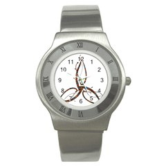 Abstract Shape Stylized Designed Stainless Steel Watch