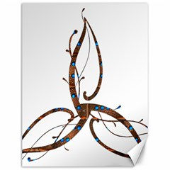 Abstract Shape Stylized Designed Canvas 12  x 16
