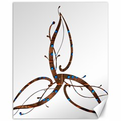 Abstract Shape Stylized Designed Canvas 11  X 14