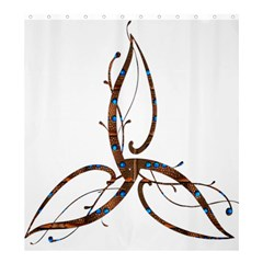 Abstract Shape Stylized Designed Shower Curtain 66  x 72  (Large)