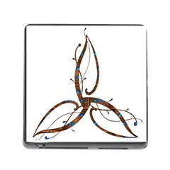 Abstract Shape Stylized Designed Memory Card Reader (Square)