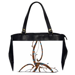 Abstract Shape Stylized Designed Office Handbags (2 Sides)