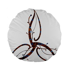 Abstract Shape Stylized Designed Standard 15  Premium Round Cushions