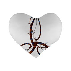 Abstract Shape Stylized Designed Standard 16  Premium Heart Shape Cushions