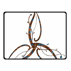 Abstract Shape Stylized Designed Double Sided Fleece Blanket (small)