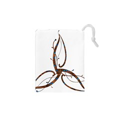 Abstract Shape Stylized Designed Drawstring Pouches (XS)