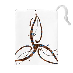 Abstract Shape Stylized Designed Drawstring Pouches (extra Large)