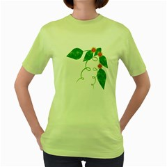 Scrapbook Green Nature Grunge Women s Green T-Shirt