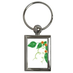 Scrapbook Green Nature Grunge Key Chains (rectangle)