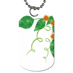 Scrapbook Green Nature Grunge Dog Tag (two Sides)