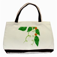 Scrapbook Green Nature Grunge Basic Tote Bag
