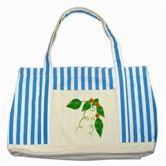 Scrapbook Green Nature Grunge Striped Blue Tote Bag