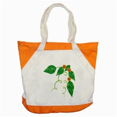 Scrapbook Green Nature Grunge Accent Tote Bag
