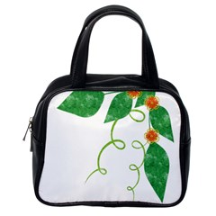 Scrapbook Green Nature Grunge Classic Handbags (one Side)