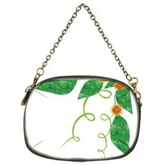 Scrapbook Green Nature Grunge Chain Purses (one Side)