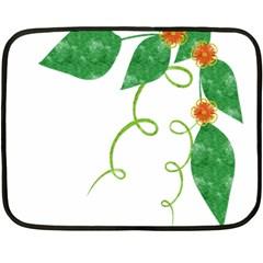 Scrapbook Green Nature Grunge Fleece Blanket (mini)