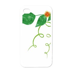 Scrapbook Green Nature Grunge Apple Iphone 4 Case (white)
