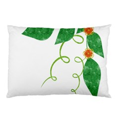 Scrapbook Green Nature Grunge Pillow Case (Two Sides)
