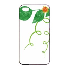 Scrapbook Green Nature Grunge Apple Iphone 4/4s Seamless Case (black)