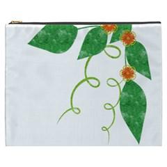 Scrapbook Green Nature Grunge Cosmetic Bag (XXXL)
