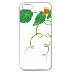 Scrapbook Green Nature Grunge Apple Seamless Iphone 5 Case (clear)