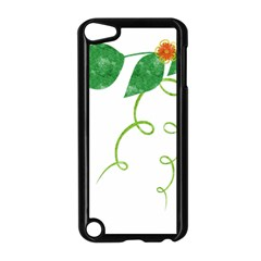 Scrapbook Green Nature Grunge Apple iPod Touch 5 Case (Black)