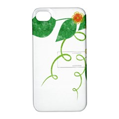 Scrapbook Green Nature Grunge Apple Iphone 4/4s Hardshell Case With Stand