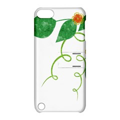 Scrapbook Green Nature Grunge Apple Ipod Touch 5 Hardshell Case With Stand