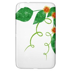Scrapbook Green Nature Grunge Samsung Galaxy Tab 3 (8 ) T3100 Hardshell Case