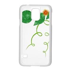 Scrapbook Green Nature Grunge Samsung Galaxy S5 Case (white)