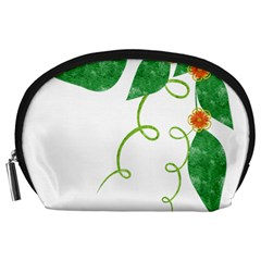 Scrapbook Green Nature Grunge Accessory Pouches (large)