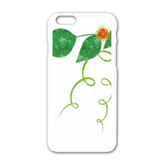 Scrapbook Green Nature Grunge Apple Iphone 6/6s White Enamel Case