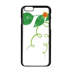 Scrapbook Green Nature Grunge Apple Iphone 6/6s Black Enamel Case