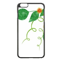 Scrapbook Green Nature Grunge Apple Iphone 6 Plus/6s Plus Black Enamel Case