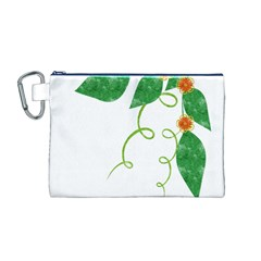 Scrapbook Green Nature Grunge Canvas Cosmetic Bag (M)