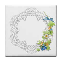 Scrapbook Element Lace Embroidery Tile Coasters