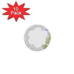 Scrapbook Element Lace Embroidery 1  Mini Buttons (10 Pack)