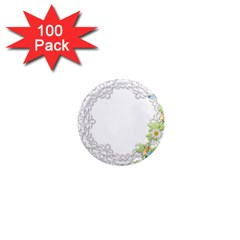 Scrapbook Element Lace Embroidery 1  Mini Magnets (100 Pack)