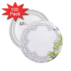 Scrapbook Element Lace Embroidery 2 25  Buttons (100 Pack)