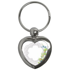Scrapbook Element Lace Embroidery Key Chains (Heart)