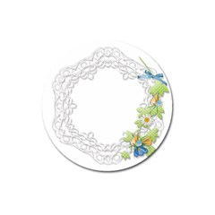 Scrapbook Element Lace Embroidery Magnet 3  (round)
