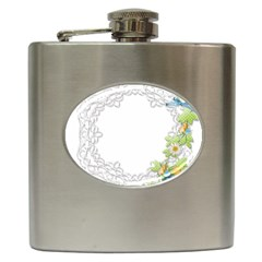 Scrapbook Element Lace Embroidery Hip Flask (6 oz)