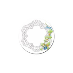 Scrapbook Element Lace Embroidery Golf Ball Marker (4 Pack)