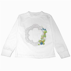 Scrapbook Element Lace Embroidery Kids Long Sleeve T Shirts