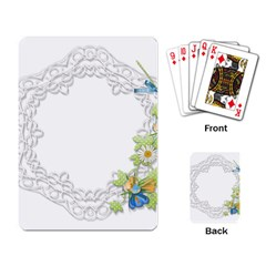 Scrapbook Element Lace Embroidery Playing Card