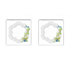 Scrapbook Element Lace Embroidery Cufflinks (Square)