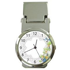 Scrapbook Element Lace Embroidery Money Clip Watches