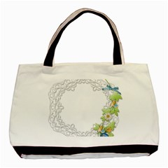 Scrapbook Element Lace Embroidery Basic Tote Bag