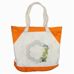 Scrapbook Element Lace Embroidery Accent Tote Bag